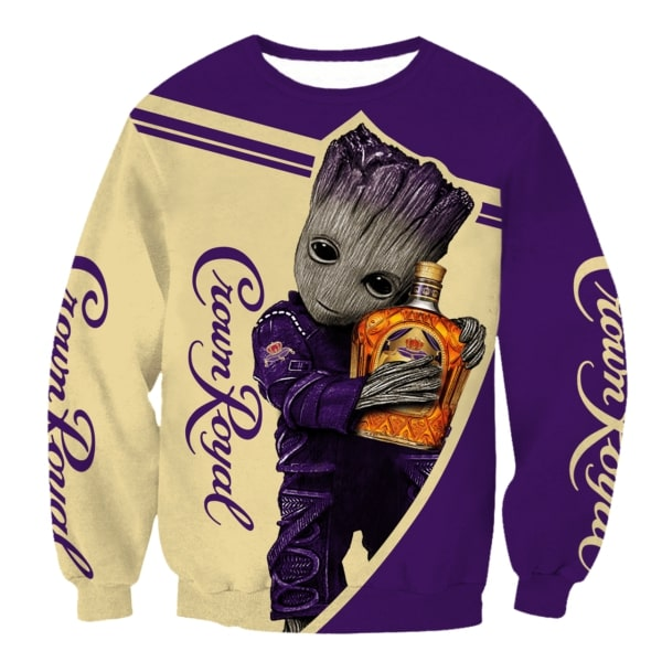 Groot crown royal 3d full printing sweatshirt