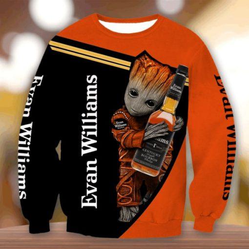 Groot evan williams bourbon all over print sweatshirt