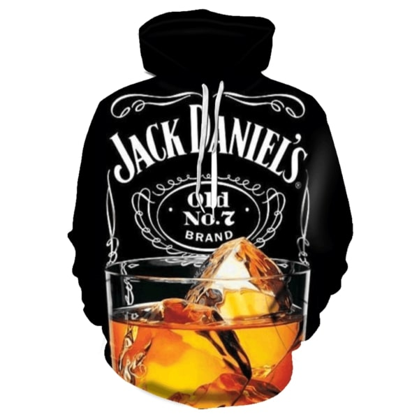 Jack daniel's old no 7 brand all over print hoodie