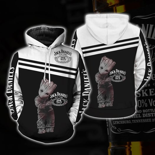 Jack daniel's old no 7 tennessee whiskey groot full printing hoodie