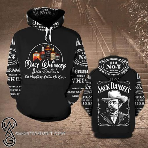 Jack daniel's tennessee whiskey all over print shirt