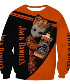 Jack daniel's whiskey groot full printing sweatshirt