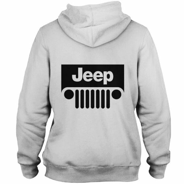 Jeep logo there's only one all over printed hoodie 3