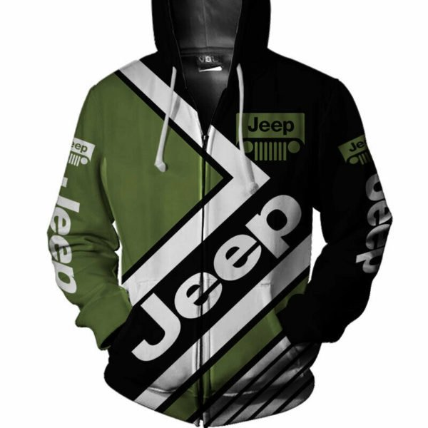 Jeep wrangler car all over printed hoodie 1