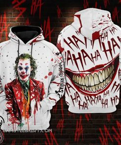 Joaquin phoenix joker all over printed shirt