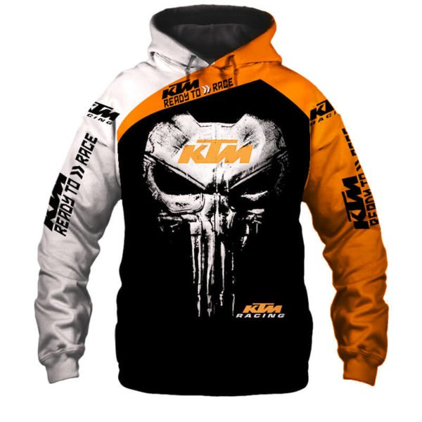KTM ready to race punisher all over print hoodie