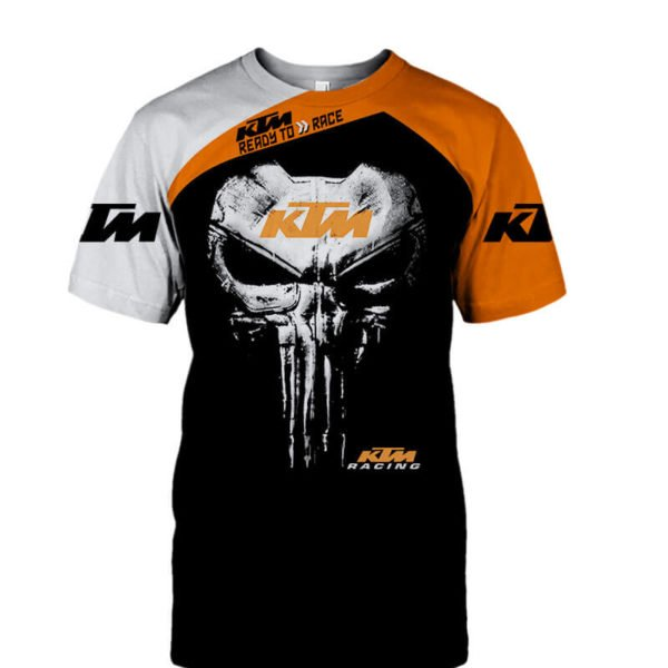 KTM ready to race punisher all over print tshirt