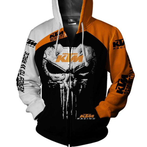 KTM ready to race punisher all over print zip hoodie