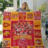 Kansas city chiefs super bowl champions full over print blanket