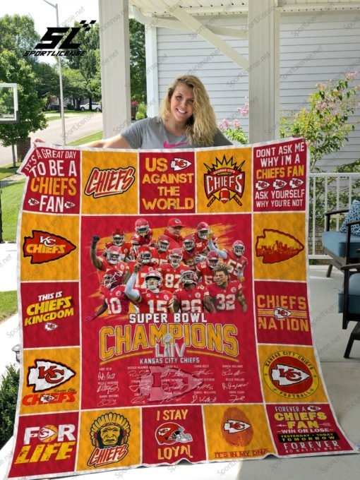 Kansas city chiefs super bowl champions full over print blanket 4
