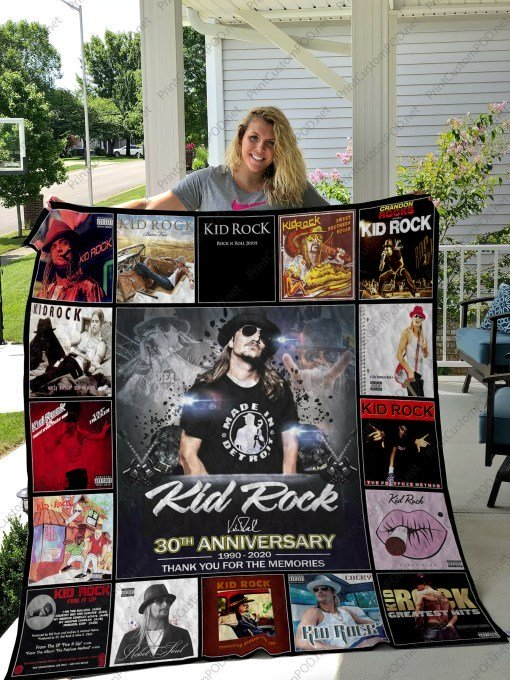 Kid rock 30th anniversary thank you for the memories full printing blanket 1