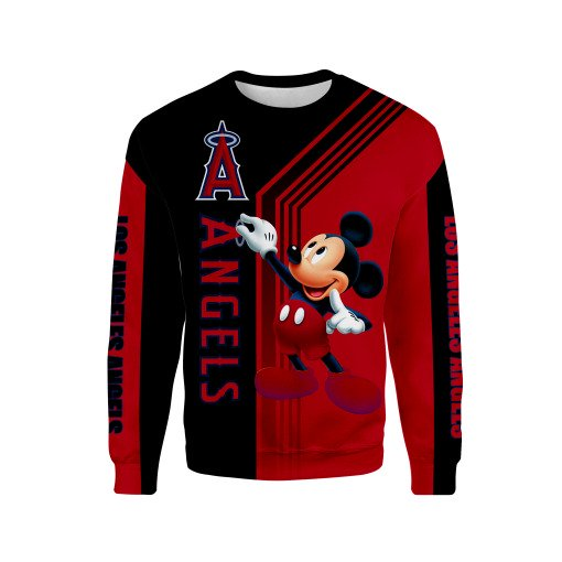 Los angeles angels of anaheim mickey mouse all over printed sweatshirt