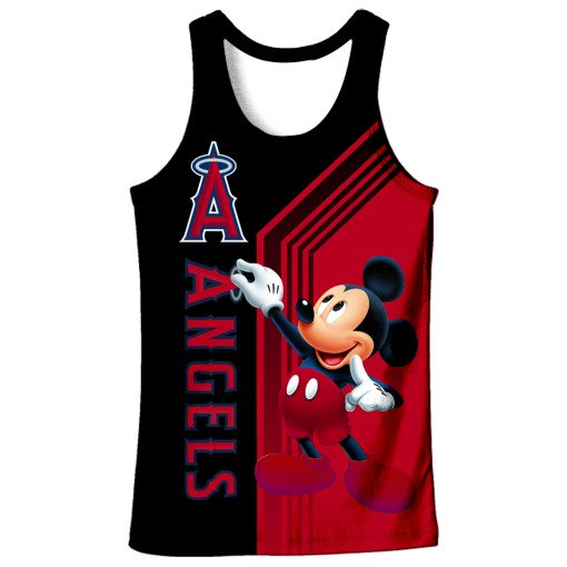 Los angeles angels of anaheim mickey mouse all over printed tank top