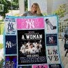 Never underestimate a woman who understand baseball and love yankees quilt