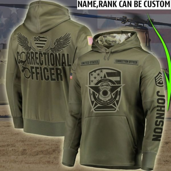 Personalized corrections officer full printing hoodie