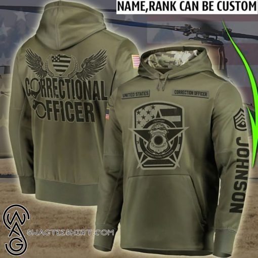 Personalized corrections officer full printing shirt