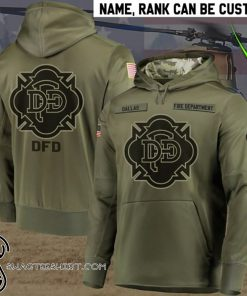 Personalized dallas fire department full printing shirt