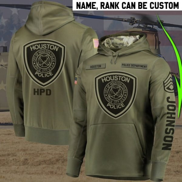 Personalized houston police department full printing hoodie 3