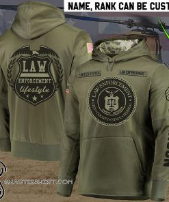 Personalized law enforcement full printing shirt