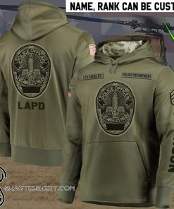 Personalized los angeles police department full printing shirt