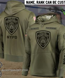Personalized new york city police department full printing shirt