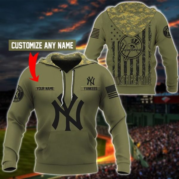 Personalized new york yankees full printing hoodie