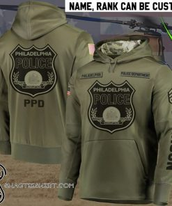 Personalized philadelphia police department full printing shirt