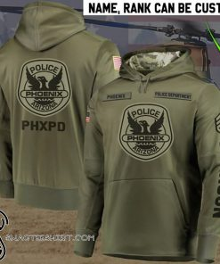 Personalized phoenix police department full printing shirt