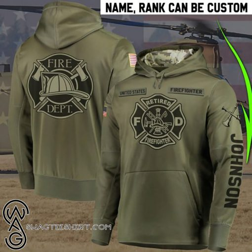 Personalized ritred firefighter full printing shirt