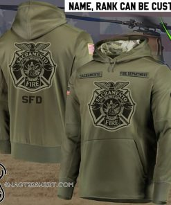 Personalized sacramento fire department full printing shirt