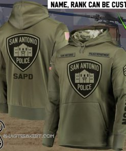 Personalized san antonio police department full printing shirt