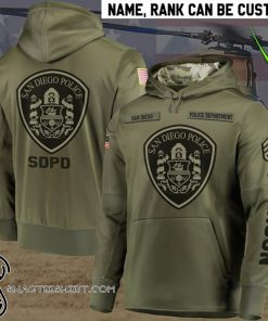 Personalized san diego police department full printing shirt