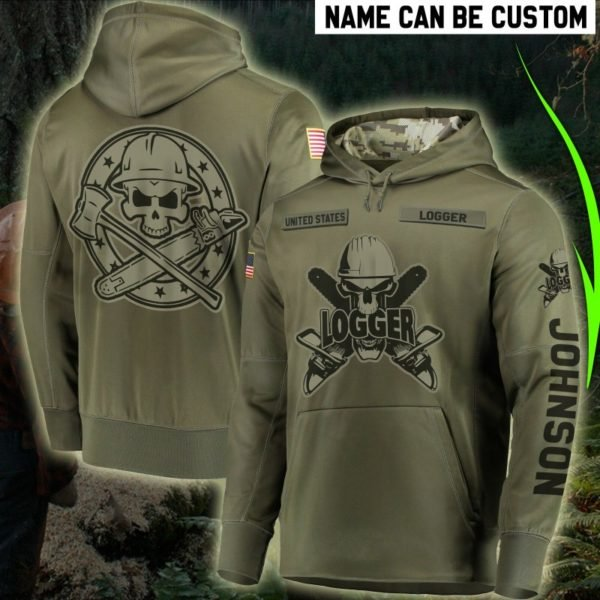 Personalized united states logger full printing hoodie