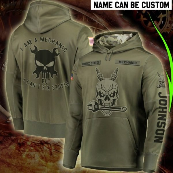 Personalized united states mechanic full printing hoodie 3