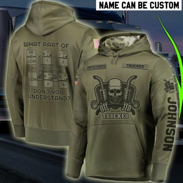 Personalized united states trucker full printing hoodie 2