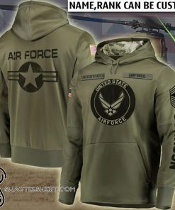 Personalized us air force full printing shirt