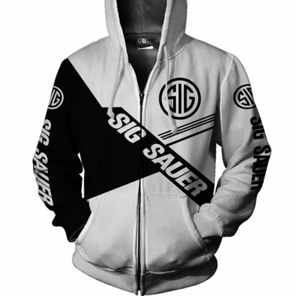 Sig sauer all over printed hoodie