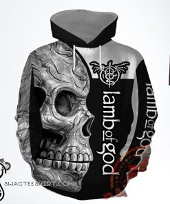 Skull lamb of god rock band full printing shirt