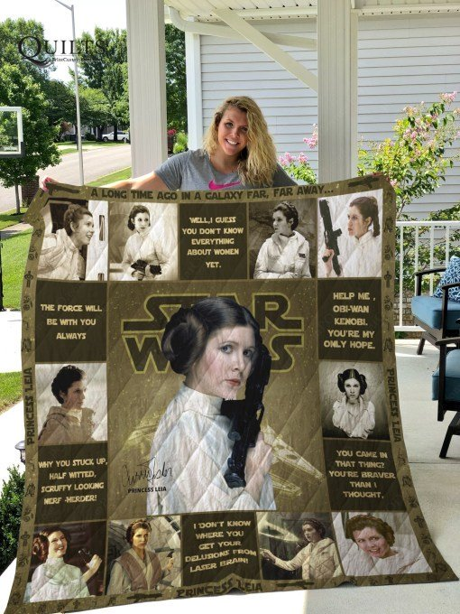 Star wars princess leia all over printed quilt 1
