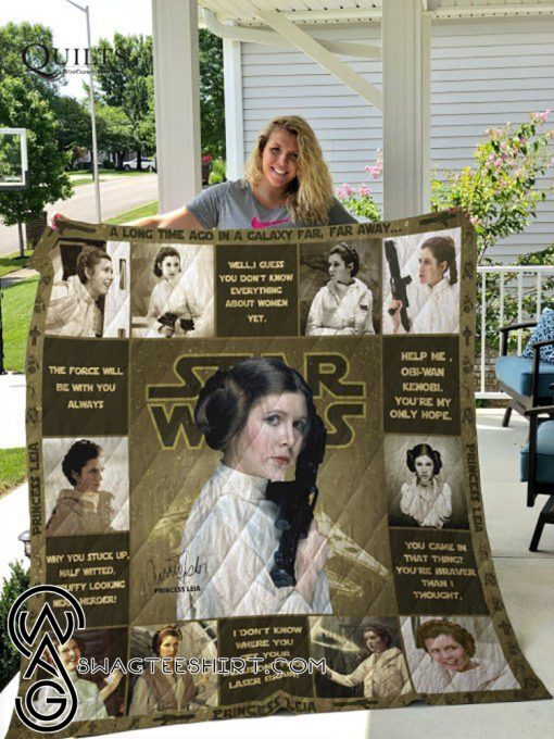 Star wars princess leia all over printed quilt