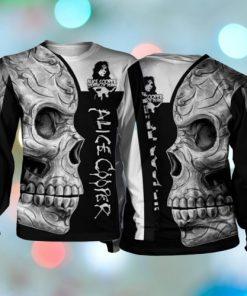 Sugar skull alice cooper all over print sweatshirt