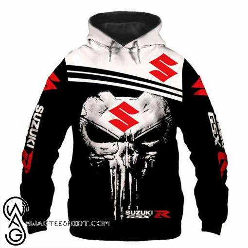 The skull suzuki gsxr logo full printing shirt