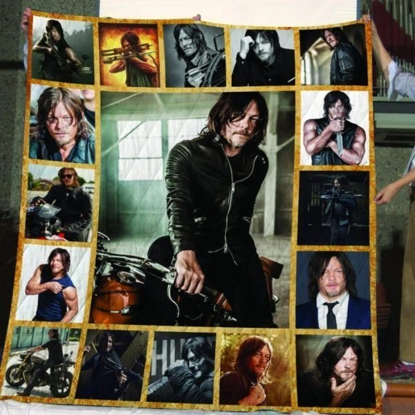 The walking dead daryl dixon all over print quilt 1