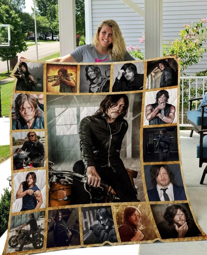 The walking dead daryl dixon all over print quilt 2