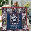 Tom brady 12 thank you for the memories full over print blanket