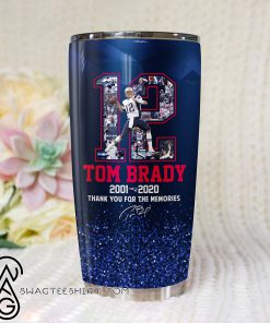 Tom brady 12 thank you for the memories tumbler