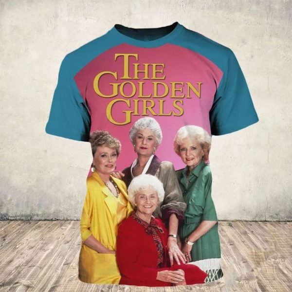 35th anniversary the golden girls all over print tshirt