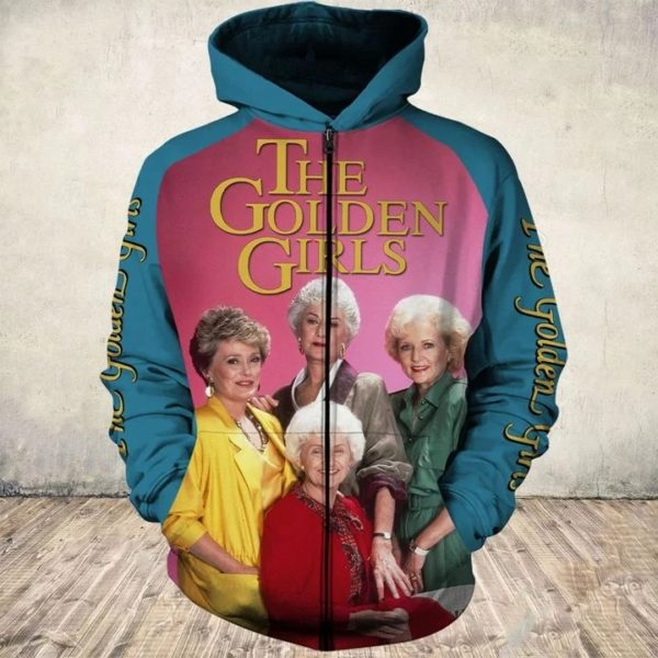 35th anniversary the golden girls all over print zip hoodie