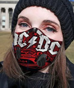ACDC band filter activated carbon face mask 1