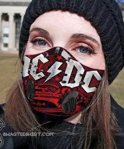 ACDC band filter activated carbon face mask